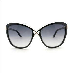 Tom Ford Celia Cateye Sunglasses in Black & Gold